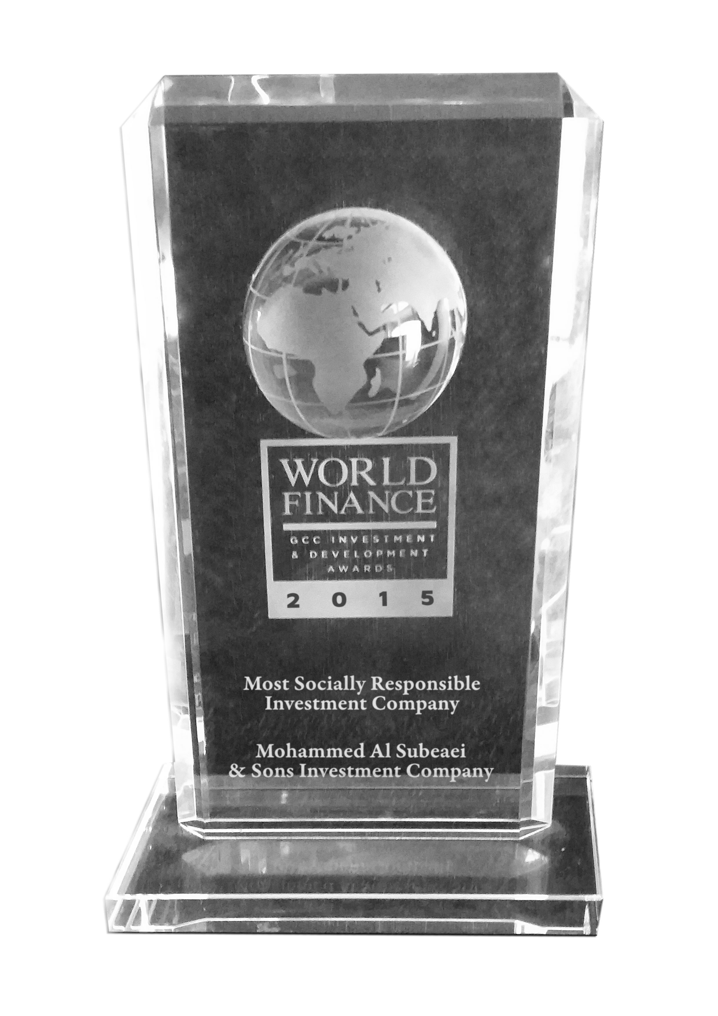 Most Socially Responsible Investment Company 2015