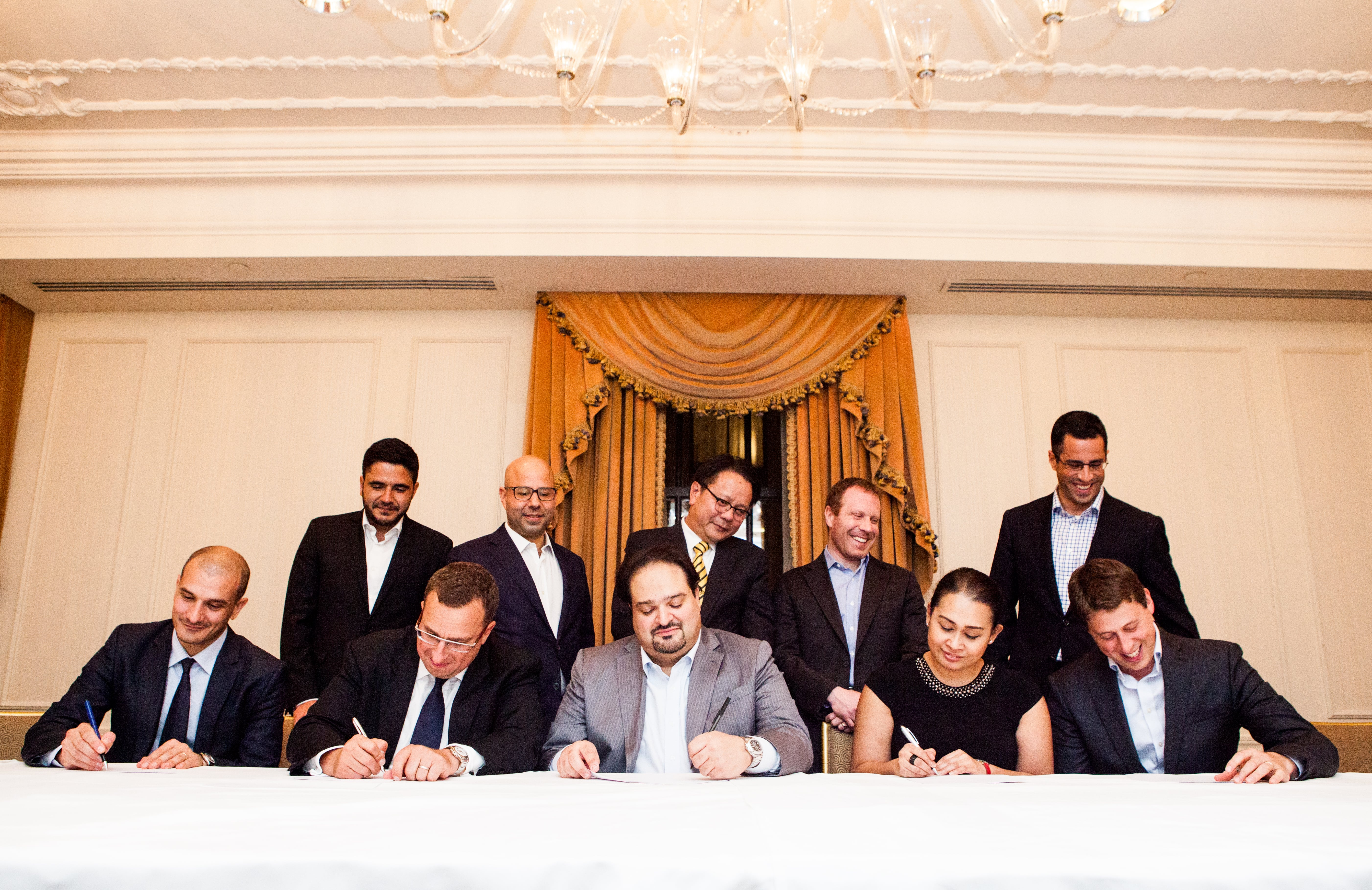 Signing ceremony with Soho Properties